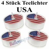 USA Teelichter, Amerika-Partydekoration