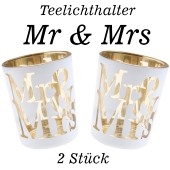 Teelichthalter Mr & Mrs