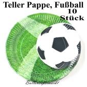 Teller aus Pappe, Fußball, 10 Stück