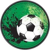 Pappteller, Partyteller Fußball grün