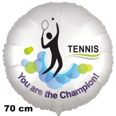 Tennis Luftballon. You are the Champion! 70 cm inklusive Helium