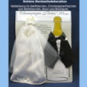 Hochzeitsdekoration Champagne Bottle Wear