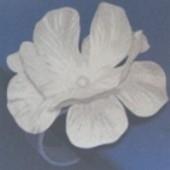 Table Clips Tischdeko 4 weiße Hochzeitsblüten