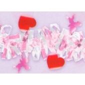 Herzgirlande Silber/Pink
