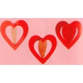 Miniherzhänger 3D Rot / 10cm