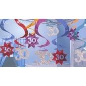 Geburtstag Dekoration Swirls 30