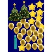 Weihnachten Luftballons, Weihnachtsdekoration, Weihnachts-Midi Set 2