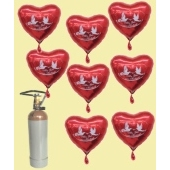"""Midi-Set Herzballons """"Alles Gute zur Hochzeit"""""""