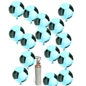 Fußball Folienballon-Midi-Set 2