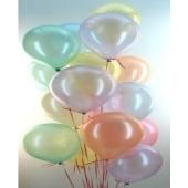 Midi-Set 8, 50 Luftballons Perlmutt, 3,5 Liter Helium, Farbauswahl
