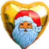"""Weihnachtsdekoration, Weihnachtsballons, Weihnachts-Mini Set Nikolaus/gold """"10"""""""