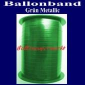 Ballonband, Luftballonbänder 1 Rolle 400 m, Grün Metallic