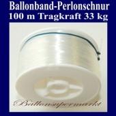 Ballonband, Perlonschnur, Rolle 100 Meter