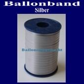 Ballonband, Luftballonbänder 1 Rolle 500 m, Silber
