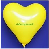 Herzluftballon, 40-45 cm, Gelb, 1 Stück
