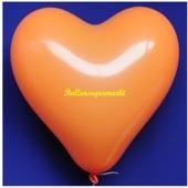 Herzluftballon, 40-45 cm, Orange, 1 Stück