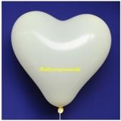 Herzluftballon, 40-45 cm, Elfenbein, 1 Stück