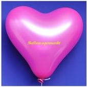 Herzluftballon, 40-45 cm, Pink, 1 Stück
