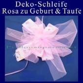 Deko-Schleife zu Geburt und Taufe, Rosa
