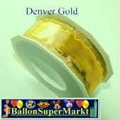 Deko-Zierband Denver, Gold, 1 Rolle