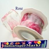 Deko-Zierband Rose, 1 Rolle