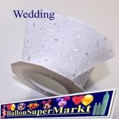 Deko-Zierband Wedding, Hochzeit, 1 Rolle