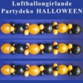 Halloween Luftballongirlande, Partydeko