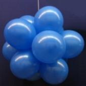 Ballonkugel mit Luftballons, Latex 30cm Ø, 15 Stück / Blau
