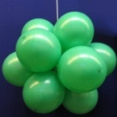 Ballonkugel mit Luftballons, Latex 30cm Ø, 15 Stück / Grün