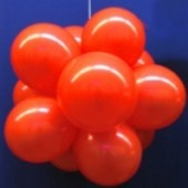 Ballonkugel mit Luftballons, Latex 30cm Ø, 75 Stück / Rot