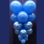 Ballontrauben mit Luftballons 10 Stück Blau