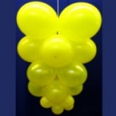 Ballontrauben mit Luftballons 5 Stück Gelb