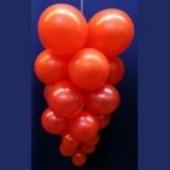 Ballontrauben mit Luftballons 10 Stück Rot