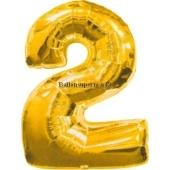 "Folienballondeko ""2"" (heliumgefüllt)"