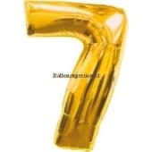 "Folienballondeko ""7"" (heliumgefüllt)"
