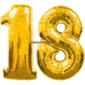 "Folienballondeko ""18"" (heliumgefüllt)"
