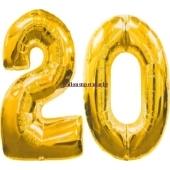 "Folienballondeko ""20"" (heliumgefüllt)"