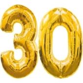 "Folienballondeko ""30"" (heliumgefüllt)"