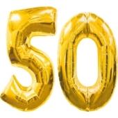 "Folienballondeko ""50"" (heliumgefüllt)"