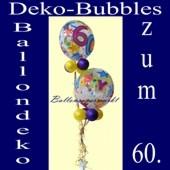 Ballondeko-Ballons zum 60. Geburtstag, Deko-Bubbles