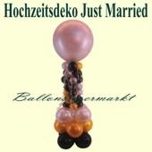 Hochzeitsdeko Just Married, Ballondeko mit Riesenballon