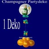 Partydekoration Silvesterparty, Champagner Bubble mit Helium und Zierdeko, 1 Stück