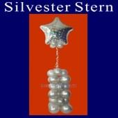 Partydekoration Silvester, Silvester-Stern, Ballondeko