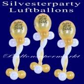 Silvesterparty Luftballons, 10 Stück Ballondekorationen