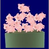 """Silvester-Karton """"Glücksschweinchen"""" 4 Stück"""