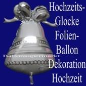 Hochzeitsglocke, Luftballon aus Folie zur Hochzeit mit Helium