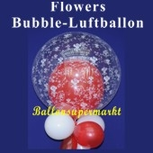 Flowers, Bubble Luftballon (mit Helium)