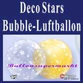 Deco Stars, Bubble Luftballon (mit Helium)