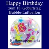 18. Geburtstag, Bubble Luftballon (mit Helium)