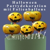 Halloween Party-Set, Ballondeko Folienballons